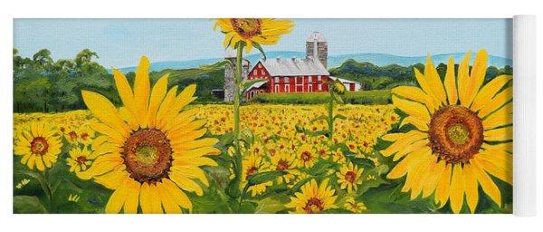 Sunflowers On Route 45 - Pennsylvania- Autumn Glow Yoga Mat