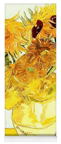 Sunflowers Van Gogh Yoga Mat
