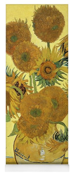 Sunflowers, 1888  Yoga Mat