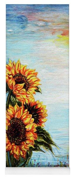 Sunflowers - Where Ocean Meets The Sky Yoga Mat