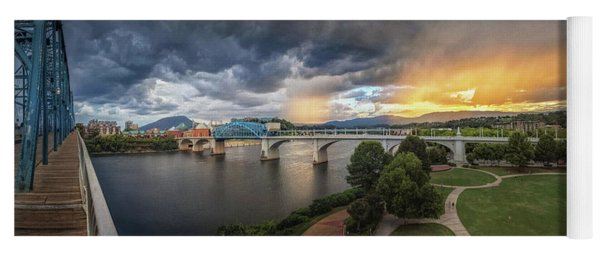 Sunlight And Showers Over Chattanooga Yoga Mat