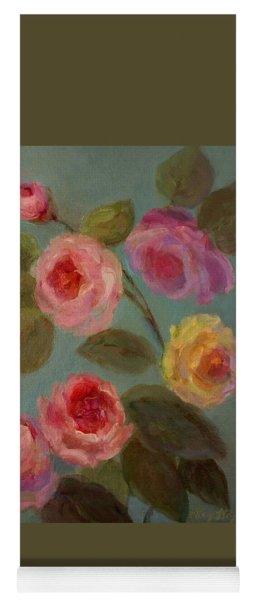 Sunlit Roses Yoga Mat