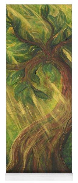 Sunlit Tree Yoga Mat