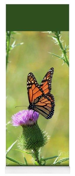 Sunlit Monarch Yoga Mat