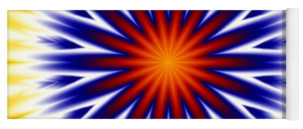 Sunny Fractal Tie Dye Yoga Mat