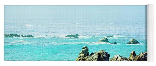 Sunny Pacific Ocean Oregon Coast Yoga Mat