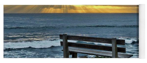 Sunrays On The Horizon Yoga Mat