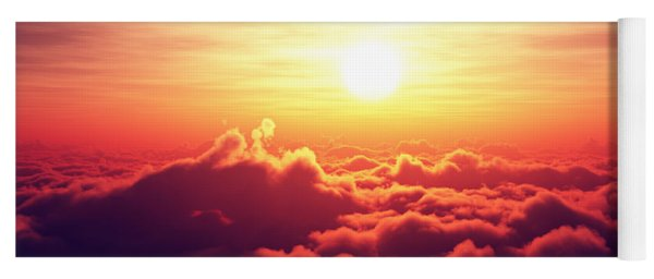 Sunrise Above The Clouds Yoga Mat