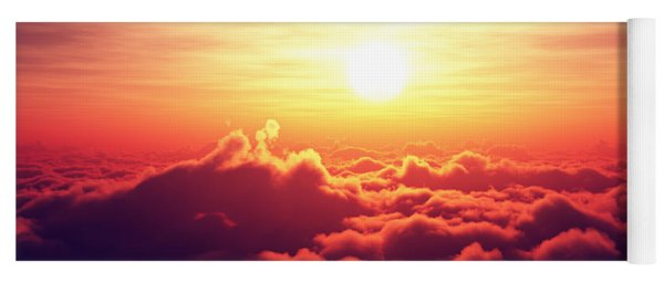 Sunrise Above The Clouds Yoga Mat