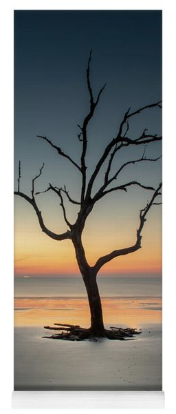 Sunrise And A Driftwood Tree Yoga Mat