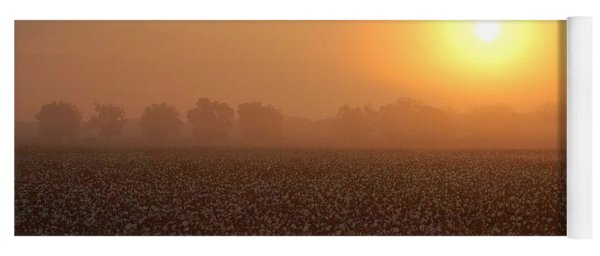 Sunrise And The Cotton Field Yoga Mat