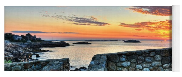 Sunrise At Castle Rock Marblehead Ma Yoga Mat