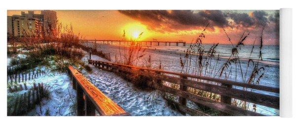 Sunrise At Cotton Bayou  Yoga Mat