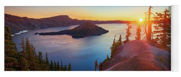 Sunrise At Crater Lake Yoga Mat