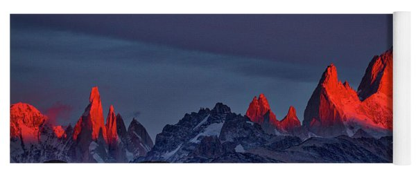 Sunrise At Fitz Roy #2 - Patagonia Yoga Mat
