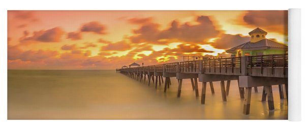 Yoga Mat featuring the photograph Sunrise At Juno Beach by Francisco Gomez