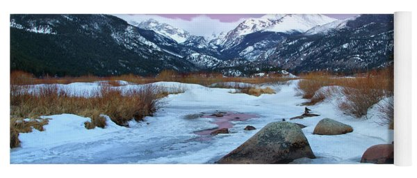 Sunrise At Rocky Mountain National Park Yoga Mat