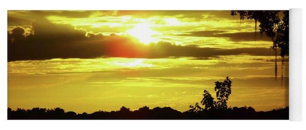 Sunrise At The Lake Yoga Mat