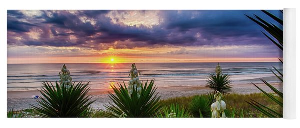 Sunrise Blooms Yoga Mat