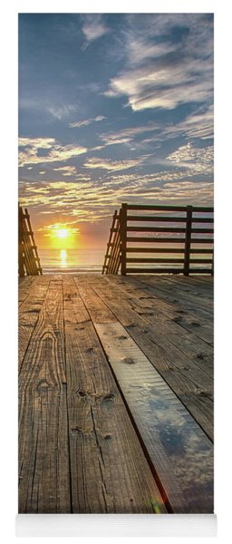 Sunrise Boardwalk Yoga Mat