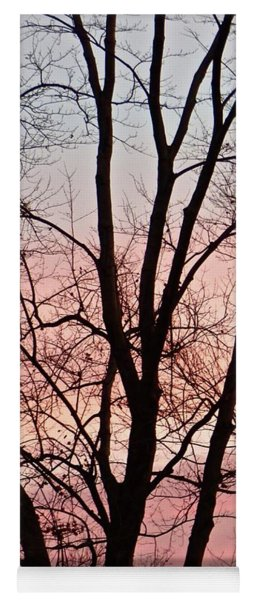 Sunrise Branches Yoga Mat