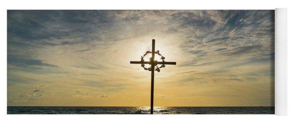 Sunrise Cross 2 Delray Beach Florida Yoga Mat