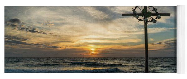 Sunrise Cross Delray Beach Florida Yoga Mat