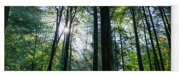 Sunrise Forest Georgia Mountains Yoga Mat