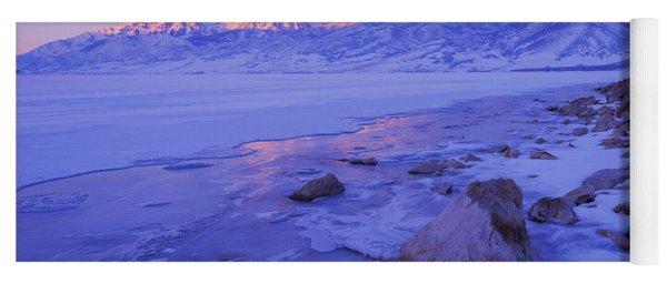 Sunrise Ice Reflection Yoga Mat