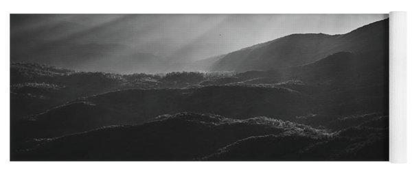 Sunrise In North Georgia Mountains Bw #blackwhite  Yoga Mat