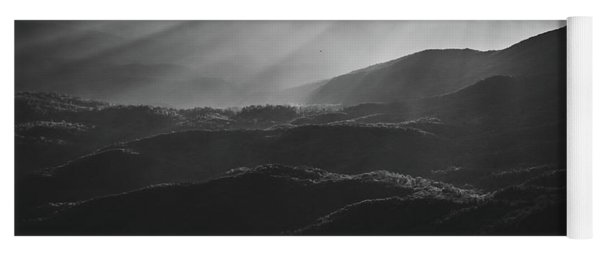 Sunrise In North Georgia Mountains Bw #blackwhite  Yoga Mat