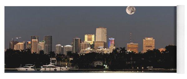 Moonrise Over Miami Yoga Mat