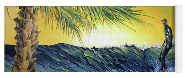 Yoga Mat featuring the painting Sunrise Nose Ride by William Love