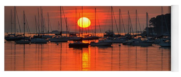 Sunrise On Salem Harbor Salem Ma Yoga Mat