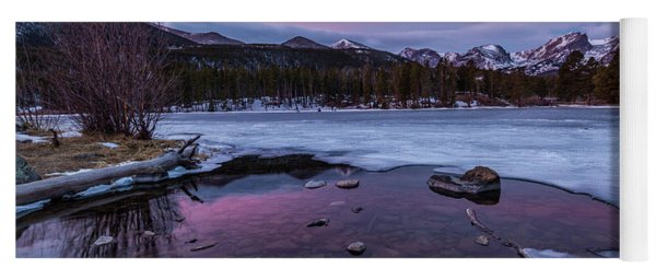Sunrise On Sprague Lake In Rocky Mountain National Park Yoga Mat
