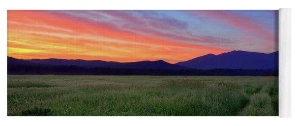 Sunrise On Summer Fields Yoga Mat