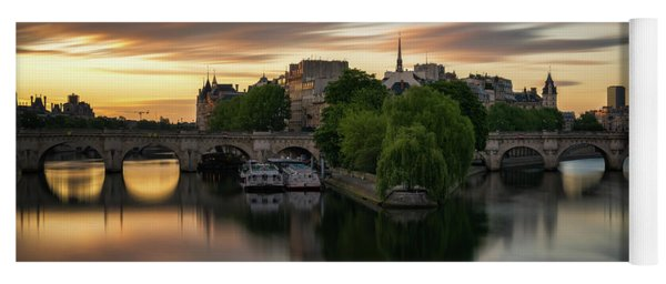 Sunrise On The Seine Yoga Mat