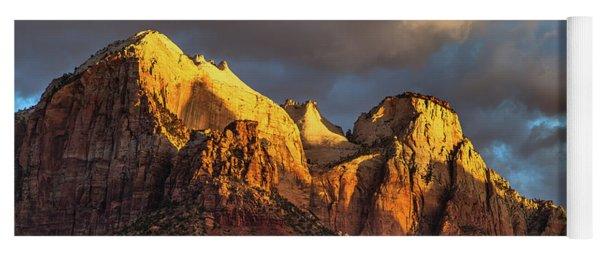 Sunrise On Zion National Park Yoga Mat