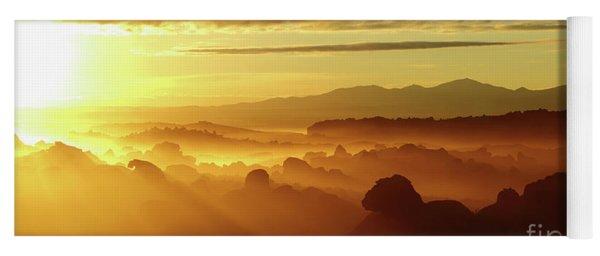 Sunrise Over Ancient Lava Flows North Lipez Bolivia Yoga Mat