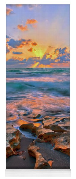 Sunrise Over Carlin Park In Jupiter Florida Yoga Mat