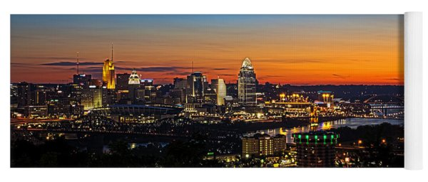 Sunrise Over Cincinnati Yoga Mat