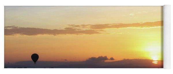 Sunrise Over Kenya Africa With Balloon Yoga Mat