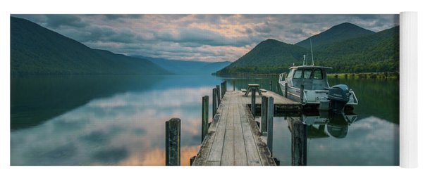 Sunrise Over Lake Rotoroa Yoga Mat