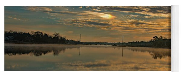 Yoga Mat featuring the photograph Sunrise Over Mill Pond  by Kristia Adams