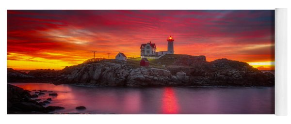Sunrise Over Nubble Light Yoga Mat
