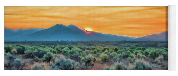 Sunrise Over Taos Yoga Mat