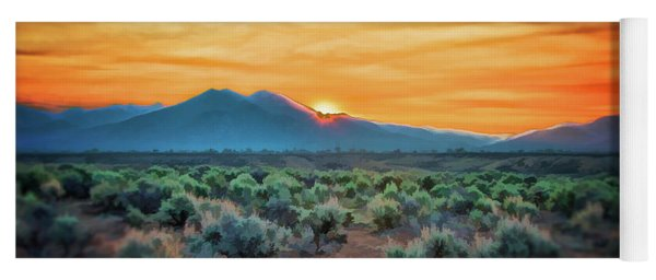 Sunrise Over Taos II Yoga Mat