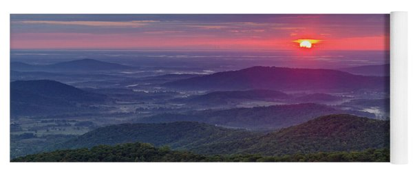 Yoga Mat featuring the photograph Sunrise Over The Blue Ridge by Lori Coleman