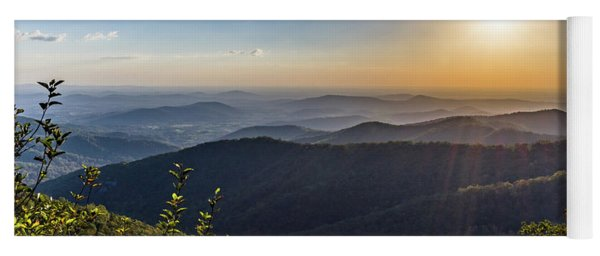 Yoga Mat featuring the photograph Sunrise Over The Misty Mountains by Lori Coleman