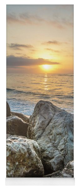 Sunrise Over The Rocks  Yoga Mat